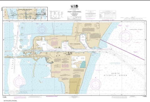 Buy map Port Canaveral; Canaveral Barge Canal Extension (11478-24) by NOAA