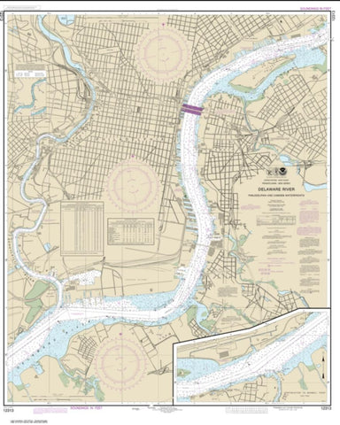 Buy map Philadelphia and Camden Waterfronts (12313-53) by NOAA