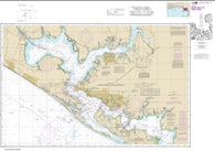 Buy map Intracoastal Waterway East Bay to West Bay (11390-25) by NOAA