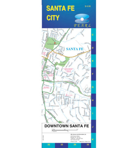 Buy map Santa Fe, New Mexico, Pearl Map, laminated by GM Johnson