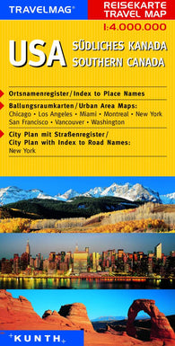 Buy map USA and Southern Canada by Kunth Verlag