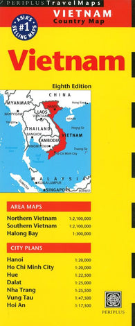 Buy map Vietnam Country Map by Periplus Editions