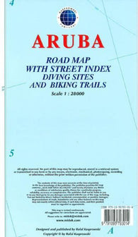 Buy map Aruba Road Map by Kasprowski Publisher