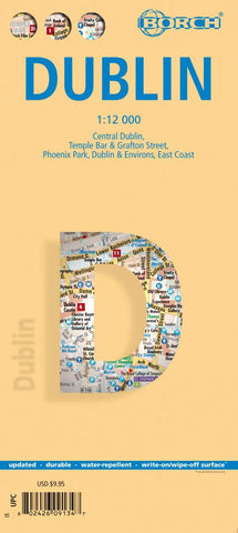 Buy map Dublin, Ireland by Borch GmbH.