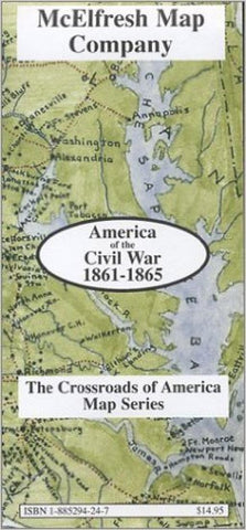 Buy map America of the Civil War, 1861-1865 by McElfresh Map Co.