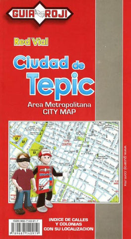 Buy map Tepic, Mexico by Guia Roji