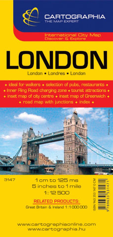 Buy map London, United Kingdom by Cartographia