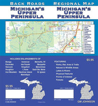 Buy map Michigan, Upper Peninsula, Back Roads by GM Johnson
