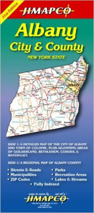 Buy map Albany, New York, City and County by Jimapco