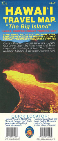 Buy map The Hawaii Travel Map, The Big Island by Phears Hawaii Maps