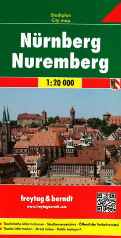 Buy map Nuremburg, Germany by Freytag-Berndt und Artaria