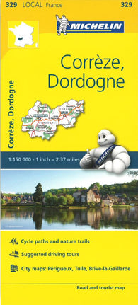 Buy map Michelin: Correze, Dordogne, France Road and Tourist Map by Michelin Travel Partner