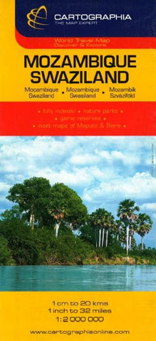 Buy map Mozambique and Swaziland by Cartographia