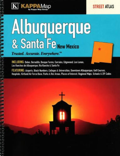 Buy map Albuquerque and Santa Fe, New Mexico, Atlas by Kappa Map Group
