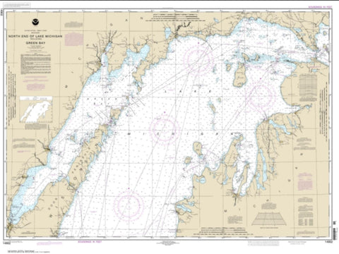 Buy map North end of Lake Michigan, including Green Bay (14902-29) by NOAA