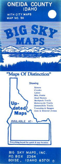 Buy map Oneida County, Idaho by Big Sky Maps
