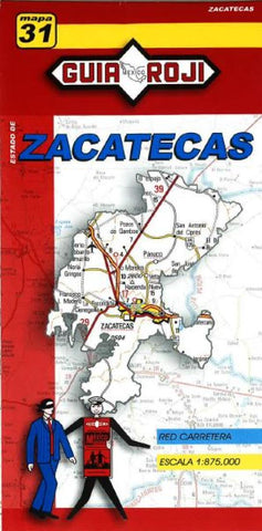 Buy map Zacatecas, Mexico, State Map by Guia Roji