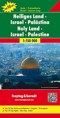 Buy map Holy Land, Israel and Palestine by Freytag-Berndt und Artaria