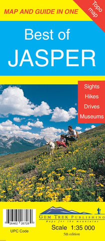 Buy map Best of Jasper Map and Guide in One by Gem Trek
