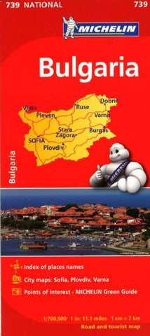 Buy map Bulgaria (739) by Michelin Maps and Guides