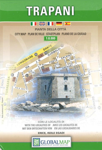 Buy map Trapani, Italy by Litografia Artistica Cartografica