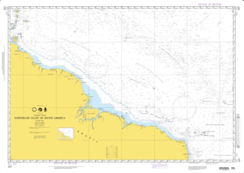 Buy map Northeast Coast Of South America (NGA-107-3) by National Geospatial-Intelligence Agency