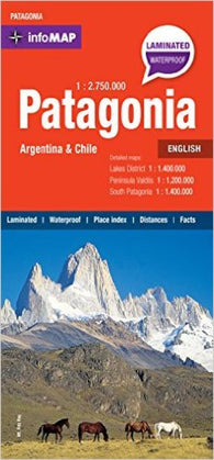 Buy map Patagonia InfoMap by Zagier y Urruty