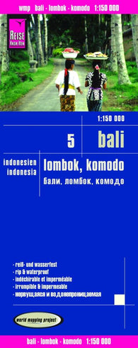 Buy map Bali, Lombok and Komodo, Indonesia by Reise Know-How Verlag