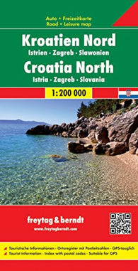 Buy map Croatia, North, Istria, Zagreb and Slavonia by Freytag-Berndt und Artaria