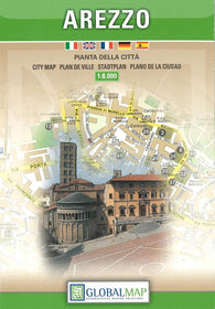 Buy map Arezzo, Italy by Litografia Artistica Cartografica