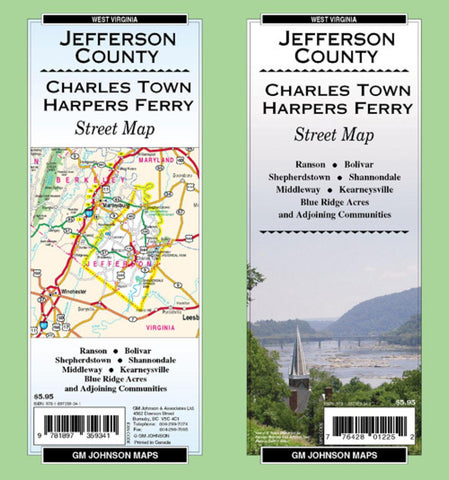 Buy map Jefferson County, Charles Town, Harpers Ferry and Ranson, West Virginia by GM Johnson