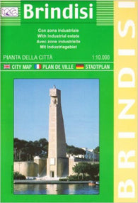 Buy map Brindisi, Italy by Litografia Artistica Cartografica