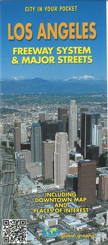 Buy map Los Angeles, California, Freeway System and Major Streets by Global Graphics