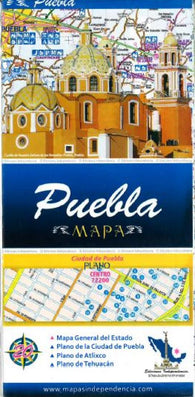 Buy map Puebla, Mexico, State and Major Cities Map by Ediciones Independencia