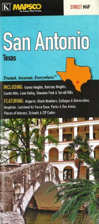 Buy map San Antonio, Texas by Kappa Map Group