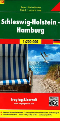 Buy map Germany, Schleswig-Holstein and Hamburg by Freytag-Berndt und Artaria
