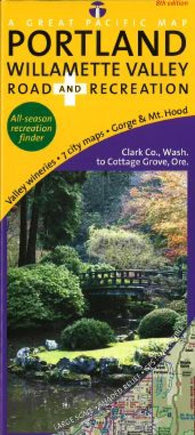 Buy map Portland and Willamette Valley, Road & Recreation by Great Pacific Recreation & Travel Maps