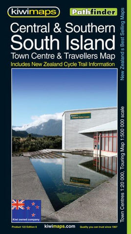 Buy map South Island, Central and Southern, New Zealand, Pathfinder Map by Kiwi Maps