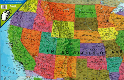 Buy map United States, Political, Desk Pad by Maps International Ltd.