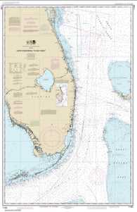 Buy map Cape Canaveral to Key West (11460-43) by NOAA