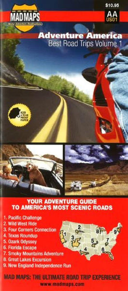 Buy map Adventure America, Best Road Trips, Volume 1 by MAD Maps