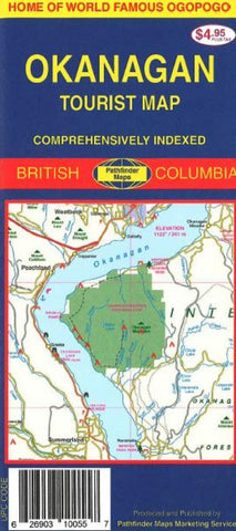 Buy map Okanagan, Canada by GM Johnson
