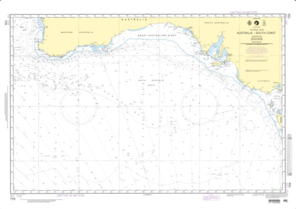 Buy map Australia - South Coast (NGA-709-2) by National Geospatial-Intelligence Agency