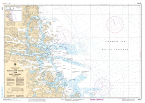 Buy map Nunaksaluk Island to/a Cape Kiglapait by Canadian Hydrographic Service