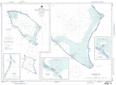 Buy map Maloelap And Aur Atolls (NGA-81771-3) by National Geospatial-Intelligence Agency
