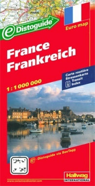 Buy map France with Distoguide by Hallwag