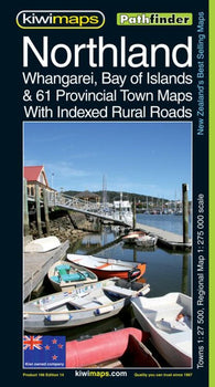 Buy map Northland and Whangarei, New Zealand, Pathfinder Map by Kiwi Maps