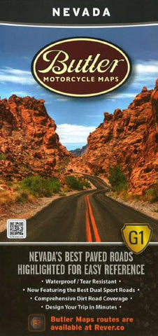 Buy map Nevada, Butler Motorcycle Map G1 by Butler Motorcycle Maps