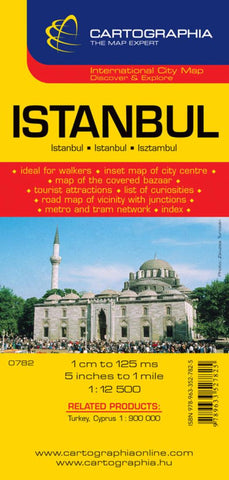 Buy map Istanbul, Turkey by Cartographia