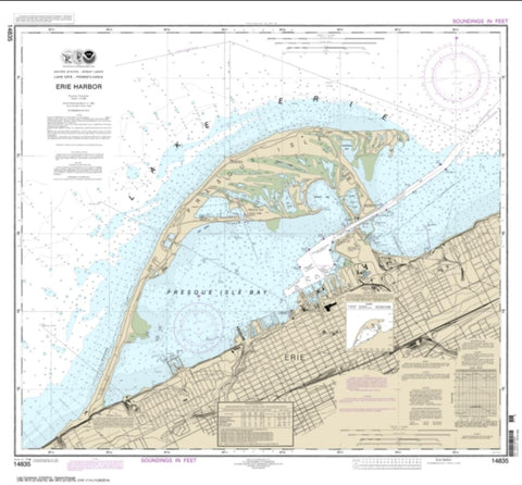 Buy map Erie Harbor (14835-33) by NOAA